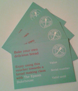 The Epsom Bakehouse gift vouchers