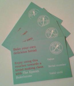 The Epsom Bakehouse gift vouchers
