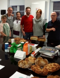 The Epsom Bakehouse Intro to breadmaking class attendees Nov 2016