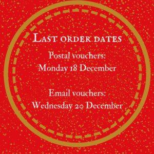 The Epsom Bakehouse gift voucher last Christmas posting dates